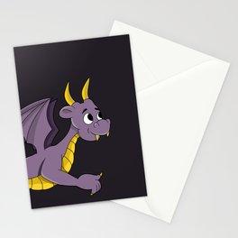 Cute purple dragon cartoon Stationery Cards