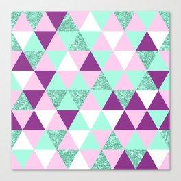 Geometrix Triagle Mix Canvas Print