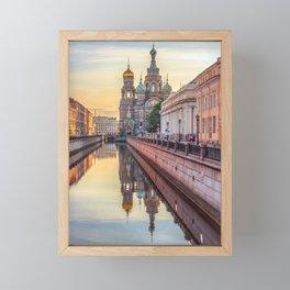 Church of the Savior on Blood, Saint Petersburg, Russia Framed Mini Art Print