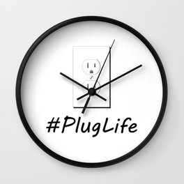 #PlugLife Outlet Wall Clock