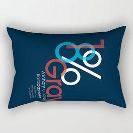 18% Gray Rectangular Pillow