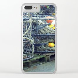 Fishing Traps Clear iPhone Case