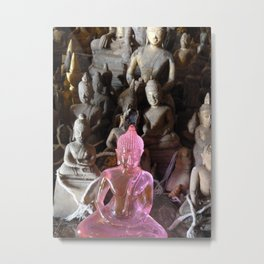 Pink Plastic Buddha Metal Print