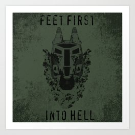 Feet First into Hell - Halo ODST Art Print