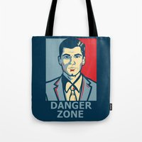 archer Tote Bags featuring Archer by Mental Activity