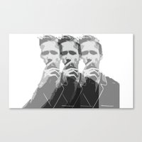 ryan gosling Canvas Prints featuring Ryan Gosling by Harry Martin
