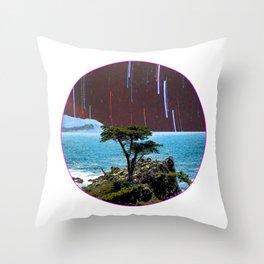 Lone Cypress Stars Circle Throw Pillow