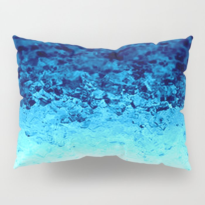 Blue Crystal Ombre Pillow Sham