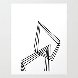 Prisms. Art Print