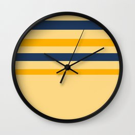 Yellow  blue  stripes  horizontal Wall Clock