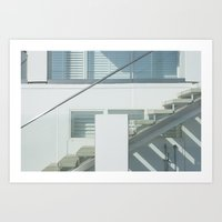 Santa Monica beach house Art Print
