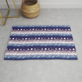 Mountains & Moons Stripe Rug