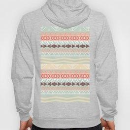 Aztec In Fall | Retro Pink Brown Teal Geo Pattern Hoody