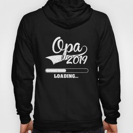 Promoted to Grandpa Est 2019 Becoming Opa Gift Hoody