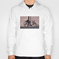 1984 Hoodies featuring PARIS BIKE 1984 by Bruce Stanfield