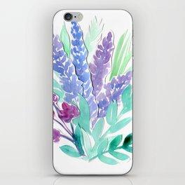 Lavender Floral Watercolor Bouquet iPhone Skin