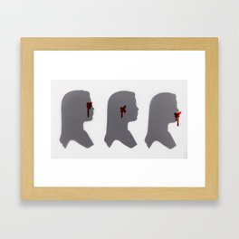 ... But Evil Still Exists Framed Art Print