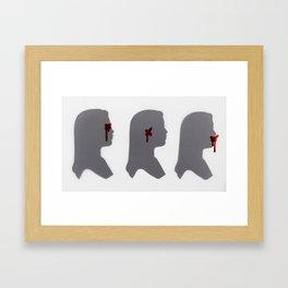 ... But Evil Still Exists Framed Art Print