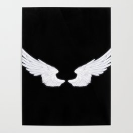White Angel Wings Poster