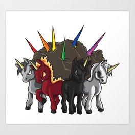The Four Unicorns Of The Apocalypse Art Print