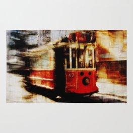urban tramway Rug