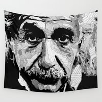 einstein Wall Tapestries featuring Einstein by lyneth Morgan