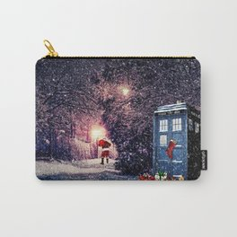 Tardis Christmas Carry-All Pouch