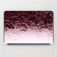 crystals iPad Cases featuring Burgundy CrYSTALS by 2sweet4words Designs