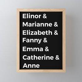 Jane Austen's Heroines I Framed Mini Art Print