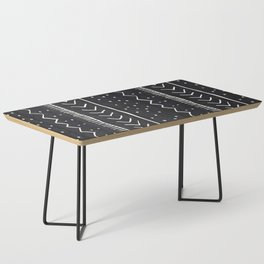 Moroccan Stripe in Black and White Coffee Table