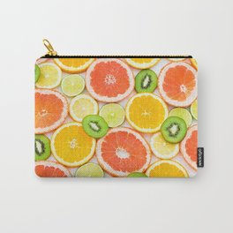 oranges ,grapefruit,kiwi, lemon and other fruits sliced Carry-All Pouch