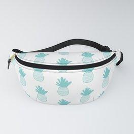 Aqua Pineapple Pattern 2 Fanny Pack