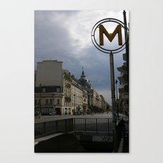 Street Scene, Paris, France Canvas Print