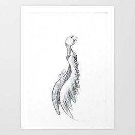 Winged  Art Print