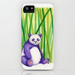 Purple Panda iPhone Case