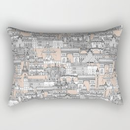Paris toile sugar pink Rectangular Pillow