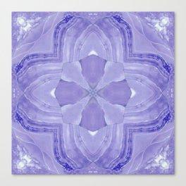 Jade Agate Stone Flower Violet Canvas Print