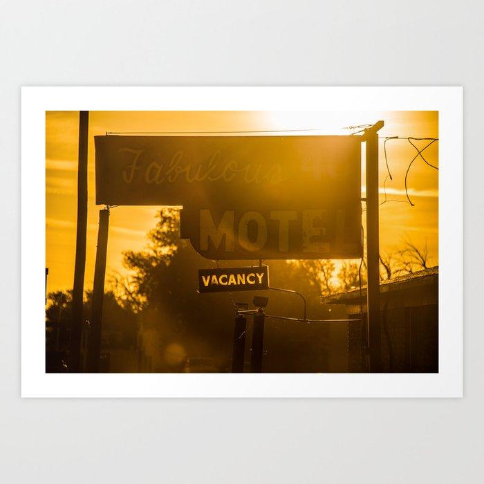 Fabulous Motel Art Print