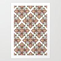 Tiles - mix Art Print