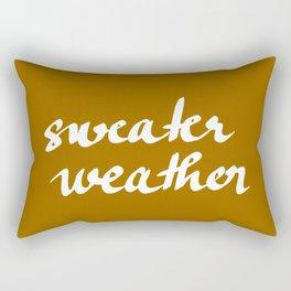 Sweater weather Rectangular Pillow