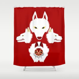 Mononoke and the wolves Shower Curtain