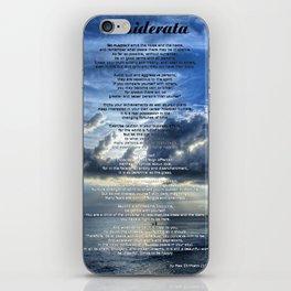Desiderata 7 - Inspirational Art By Sharon Cummings iPhone Skin