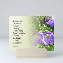 Serenity Prayer Bell Flowers Mini Art Print