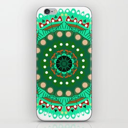 the blossoming of a forest mandala iPhone Skin