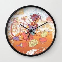 Bicycle Picnic Wall Clock