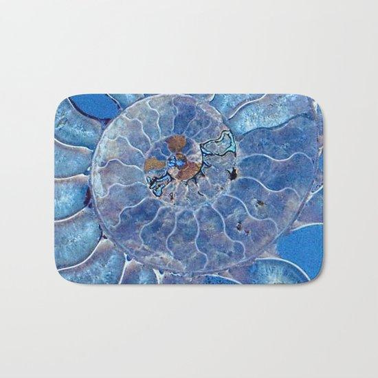 Blue seashell -mother-of-pearl - Beautiful backdrop Bath Mat