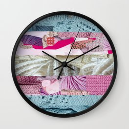 Trans Pride Flag Collage Wall Clock