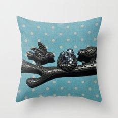 Bird love Throw Pillow