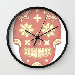 skull t-shirt Wall Clock