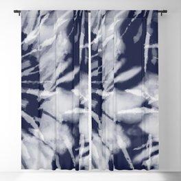 dark blue tie dye Blackout Curtain